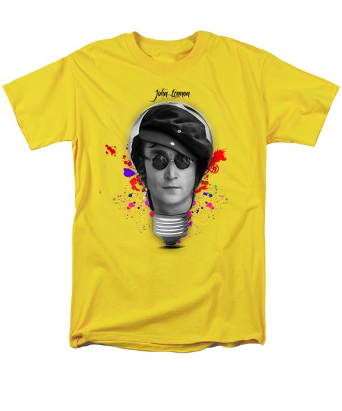 John Lennon Men's T-Shirt  (Regular Fit) by Marvin Blaine