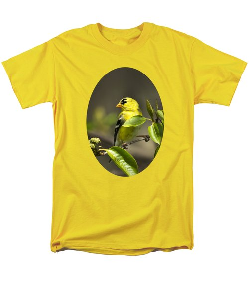 American Goldfinch On Branch Men's T-Shirt  (Regular Fit) by Christina Rollo