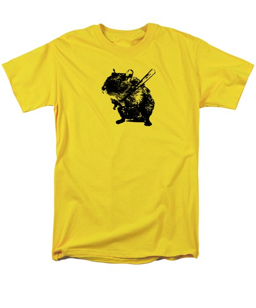 Angry Street Art Mouse  Hamster Baseball Edit  Men's T-Shirt  (Regular Fit) by Philipp Rietz