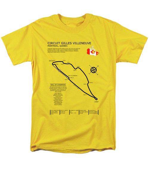 Circuit Gilles Villeneuve Men's T-Shirt  (Regular Fit) by Mark Rogan