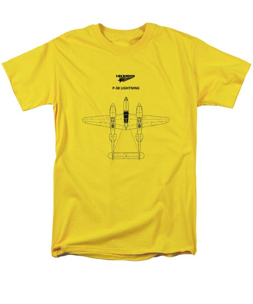 The P-38 Lightning Men's T-Shirt  (Regular Fit) by Mark Rogan