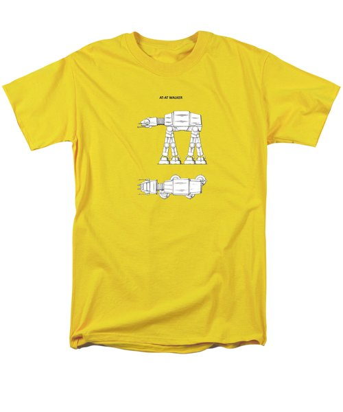 Star Wars - At-at Patent Men's T-Shirt  (Regular Fit) by Mark Rogan