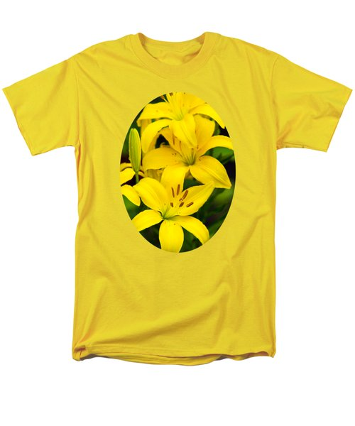Yellow Lilies Men's T-Shirt  (Regular Fit) by Christina Rollo