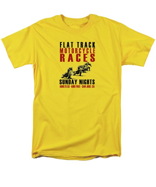 Flat Track Motorcycle Races Men's T-Shirt  (Regular Fit) by Mark Rogan