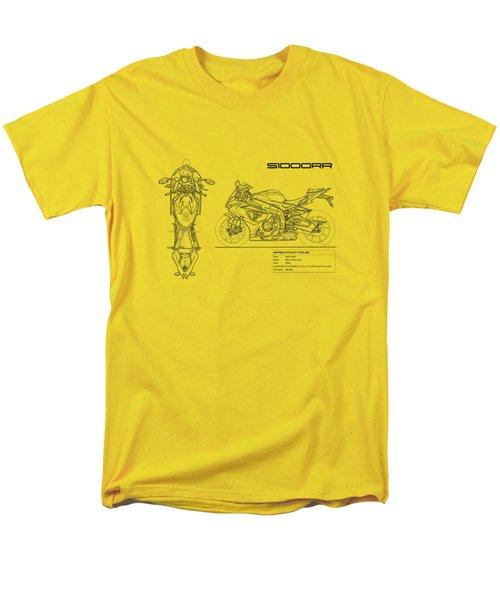 Blueprint Of A S1000rr Motorcycle Men's T-Shirt  (Regular Fit) by Mark Rogan