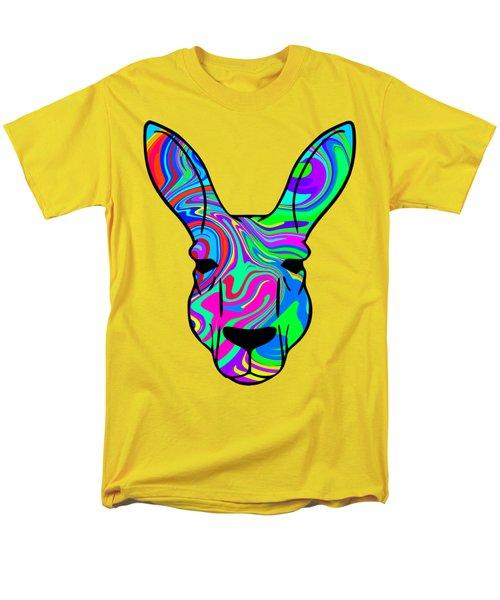 Colorful Kangaroo Men's T-Shirt  (Regular Fit) by Chris Butler