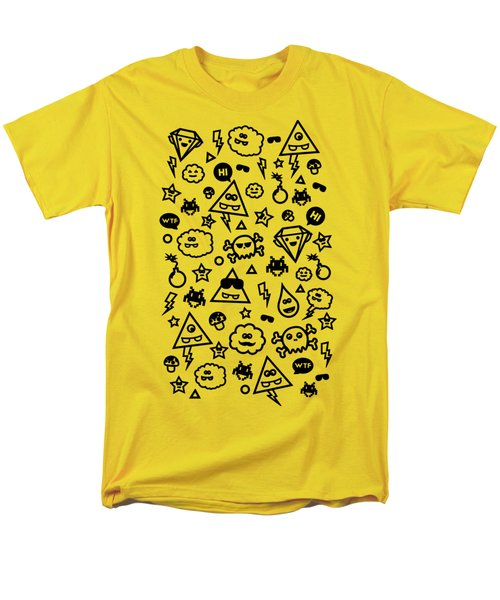 Crazy And Cute Monster Patter In Blue Pink Men's T-Shirt  (Regular Fit) by Philipp Rietz