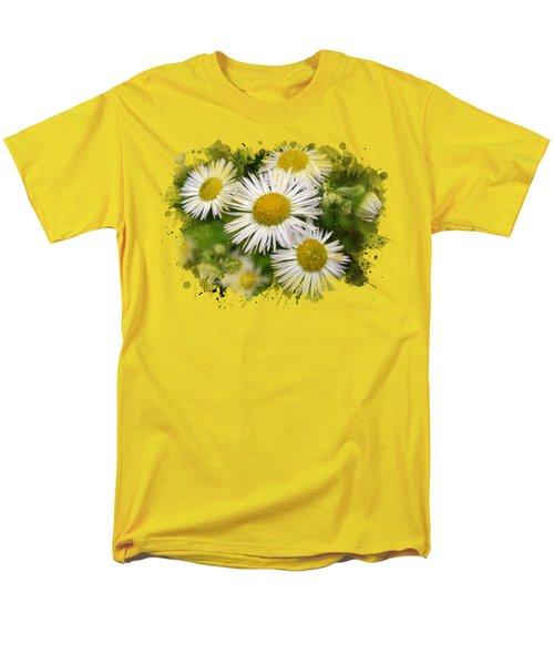 Daisy Watercolor Art Men's T-Shirt  (Regular Fit) by Christina Rollo