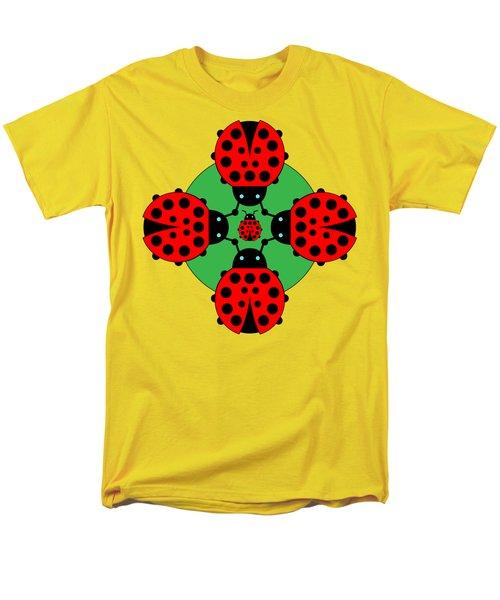 Five Lucky Ladybugs Men's T-Shirt  (Regular Fit) by John Groves
