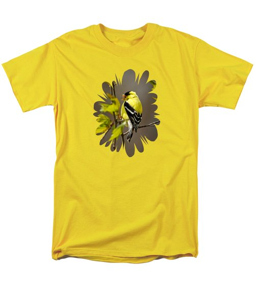Goldfinch Suspended In Song Men's T-Shirt  (Regular Fit) by Christina Rollo