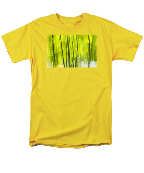 Green forest abstract T-Shirt by Elena Elisseeva