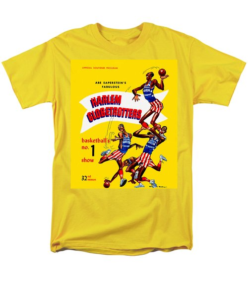 Harlem Globetrotters Vintage Program 32nd Season Men's T-Shirt  (Regular Fit) by Big 88 Artworks