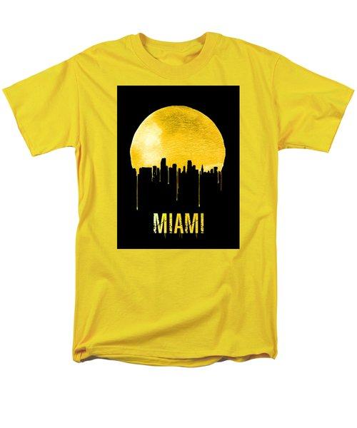 Miami Skyline Yellow Men's T-Shirt  (Regular Fit) by Naxart Studio