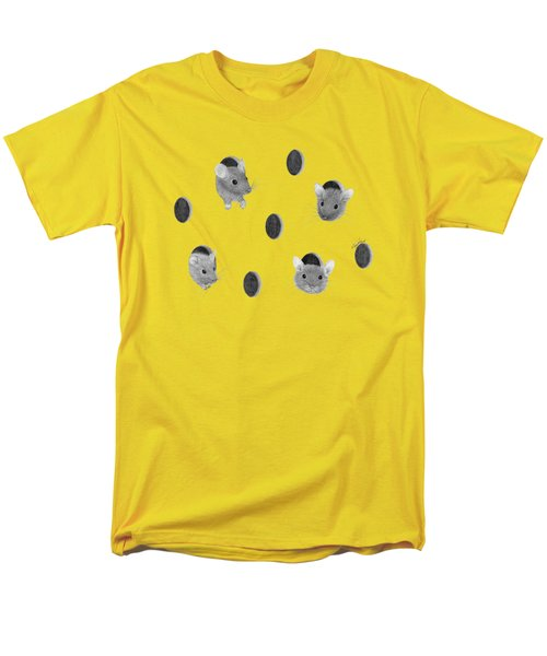 Mice In Swiss Cheese Men's T-Shirt  (Regular Fit) by Rita Palmer