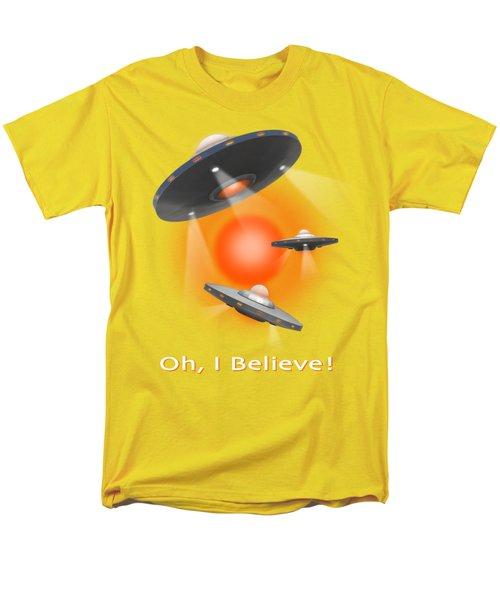 Oh I Believe  Se Men's T-Shirt  (Regular Fit) by Mike McGlothlen