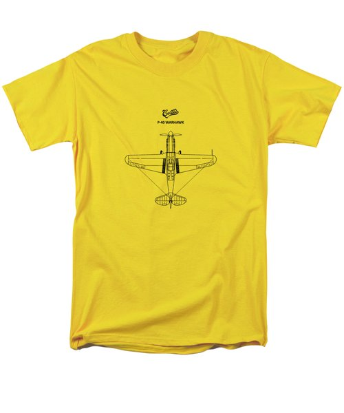 P-40 Warhawk Men's T-Shirt  (Regular Fit) by Mark Rogan