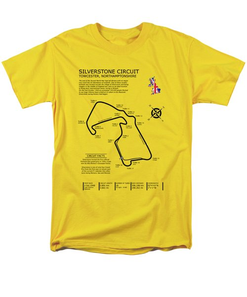 Silverstone Circuit Men's T-Shirt  (Regular Fit) by Mark Rogan