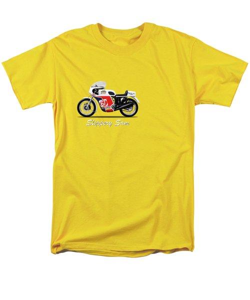 Slippery Sam Production Racer Men's T-Shirt  (Regular Fit) by Mark Rogan