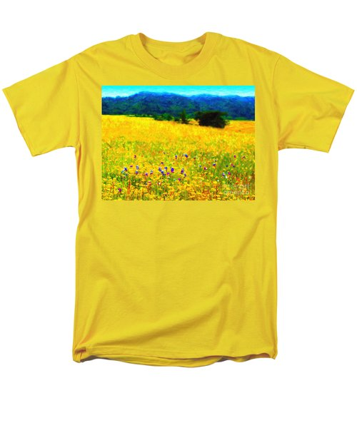 Yellow Hills T-Shirt by Wingsdomain Art and Photography