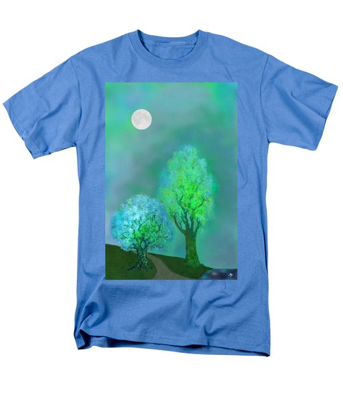 unbordered DREAM TREES AT TWILIGHT T-Shirt by Mathilde Vhargon