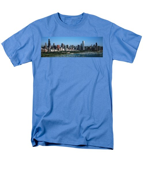 Aerial View Of Buildings In A City Men's T-Shirt  (Regular Fit) by Panoramic Images