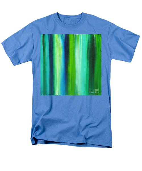 Abstract Art Original Textured Soothing Painting SEA OF WHIMSY STRIPES I by MADART T-Shirt by Megan Duncanson
