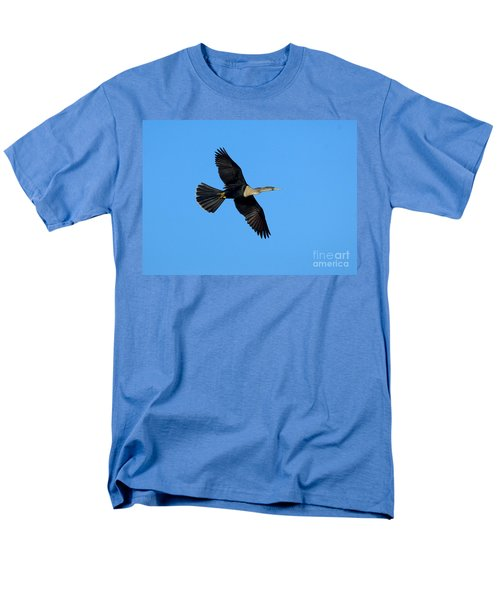 Anhinga Female Flying Men's T-Shirt  (Regular Fit) by Anthony Mercieca