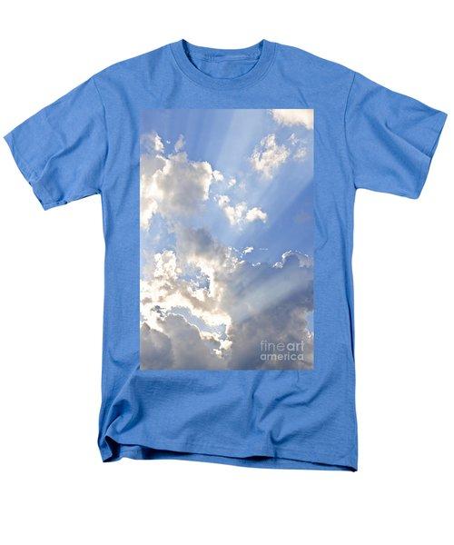 Blue sky with sun rays T-Shirt by Elena Elisseeva
