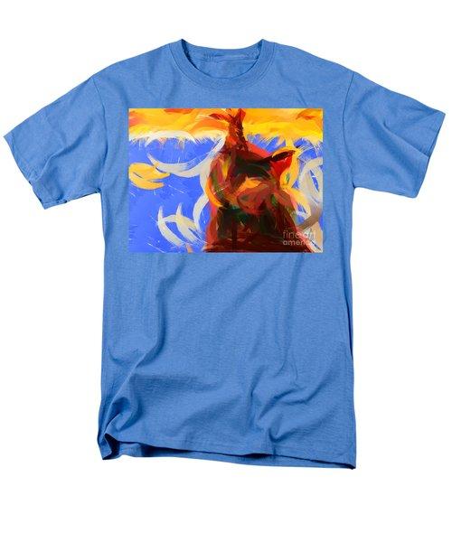 Cat abstract art T-Shirt by Pixel Chimp