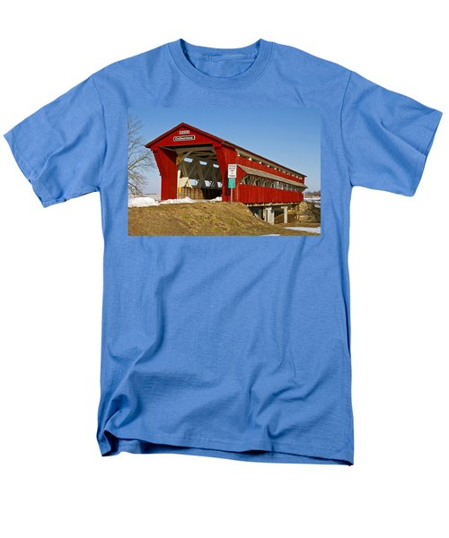 Culbertson or Treacle Creek Covered Bridge T-Shirt by Jack R Perry