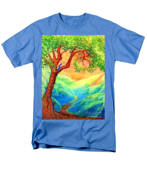 Dreaming Of Bluebells Men's T-Shirt  (Regular Fit) by Jane Small
