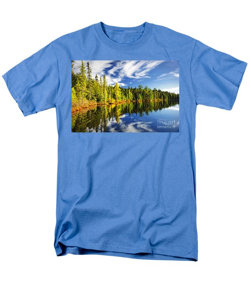Forest reflecting in lake T-Shirt by Elena Elisseeva