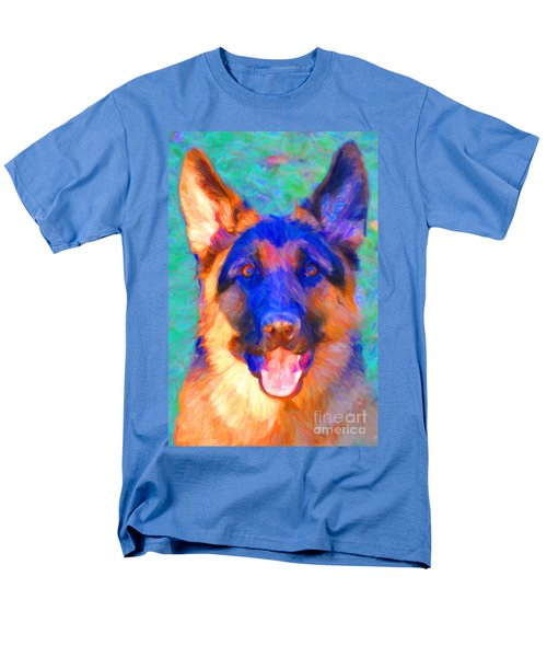 German Shepard - Painterly T-Shirt by Wingsdomain Art and Photography