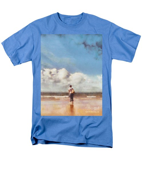 Girl on beach T-Shirt by Pixel Chimp