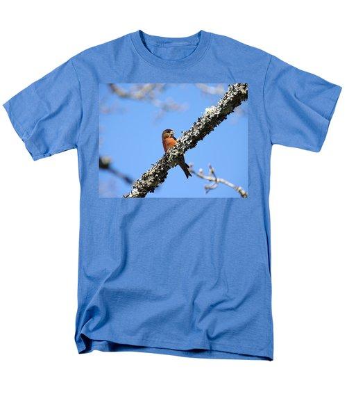 Red Crossbill Finch Men's T-Shirt  (Regular Fit) by Marilyn Wilson