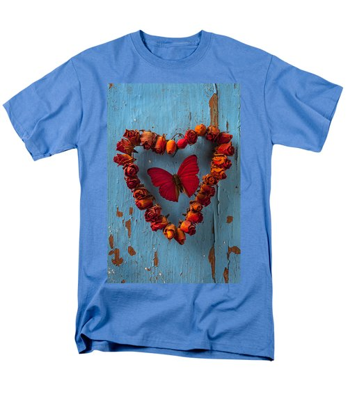 Red wing butterfly in heart T-Shirt by Garry Gay