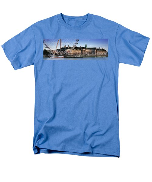 The London Eye And County Hall Men's T-Shirt  (Regular Fit) by Rod McLean