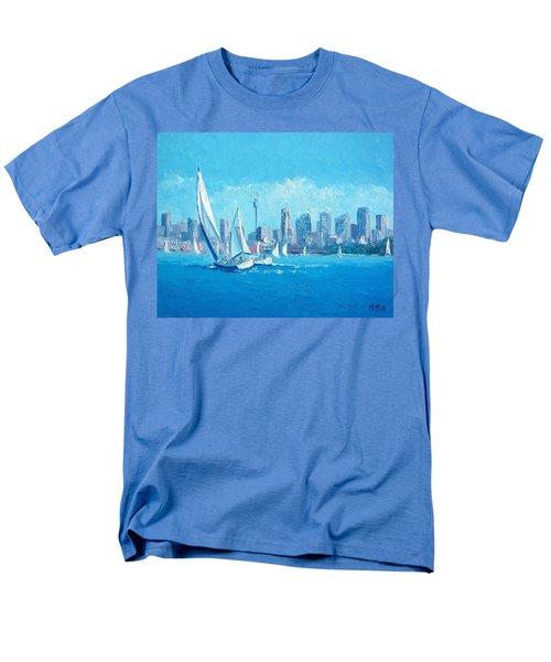 The Regatta Sydney Habour By Jan Matson Men's T-Shirt  (Regular Fit) by Jan Matson