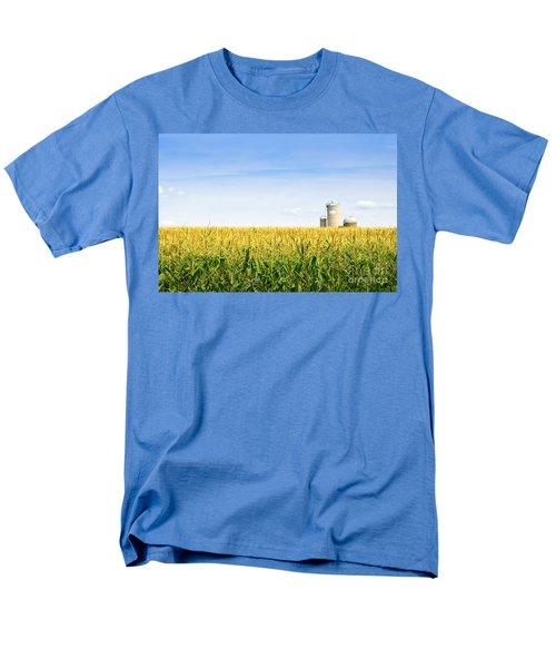 Corn field with silos T-Shirt by Elena Elisseeva