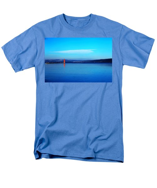 Red lighthouse in Cayuga Lake New York T-Shirt by Paul Ge