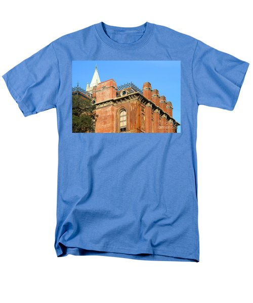 UC Berkeley . South Hall . Oldest Building At UC Berkeley . Built 1873 . The Campanile in The Backgr T-Shirt by Wingsdomain Art and Photography