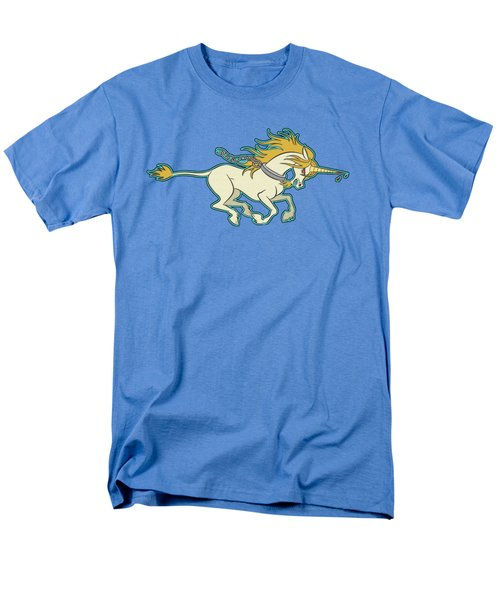 Charging Unicorn Men's T-Shirt  (Regular Fit) by J L Meadows