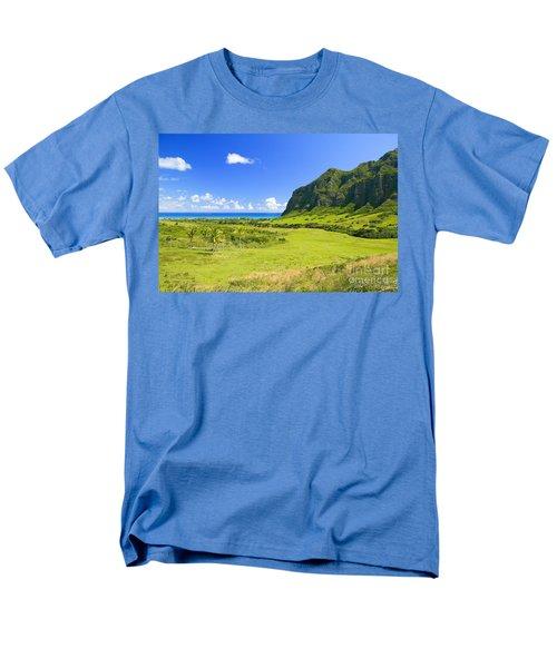 Kualoa Ranch Mountains T-Shirt by Dana Edmunds - Printscapes