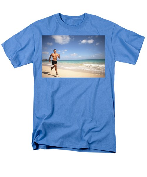 Male Runner T-Shirt by Sri Maiava Rusden - Printscapes