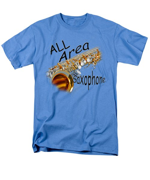 All Area Saxophone Men's T-Shirt  (Regular Fit) by M K  Miller