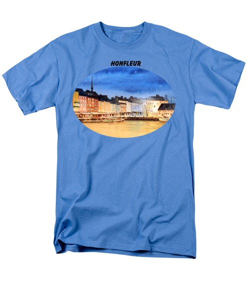 Honfleur  Evening Lights Men's T-Shirt  (Regular Fit) by Bill Holkham