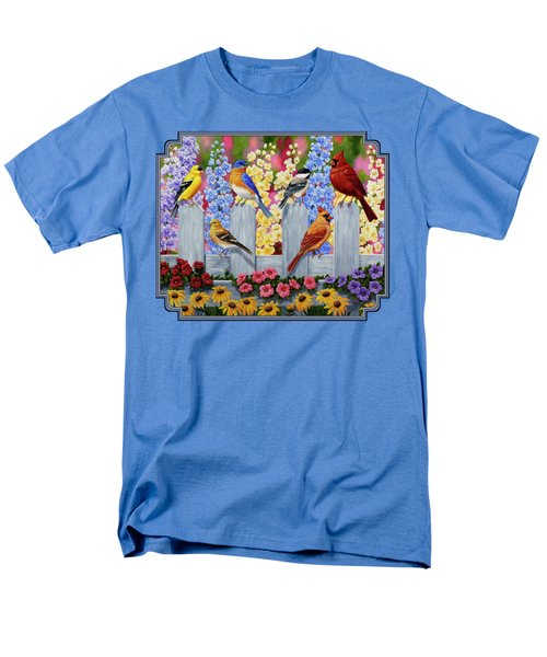 Bird Painting - Spring Garden Party Men's T-Shirt  (Regular Fit) by Crista Forest