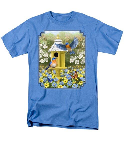 Bluebird Garden Home Men's T-Shirt  (Regular Fit) by Crista Forest