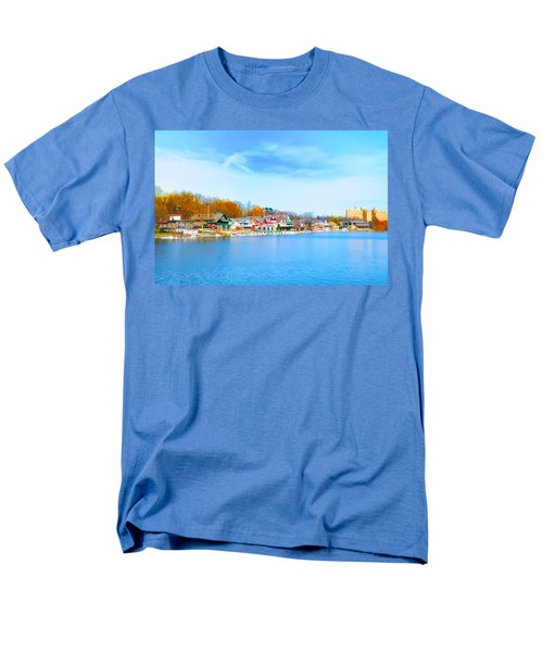 Boat House Row from West River Drive T-Shirt by Bill Cannon