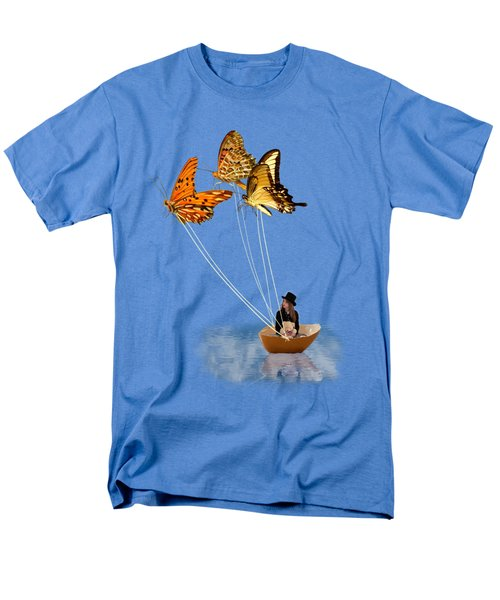 Butterfly Sailing Men's T-Shirt  (Regular Fit) by Linda Lees